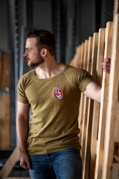 T-Shirt NL gelb-oliv