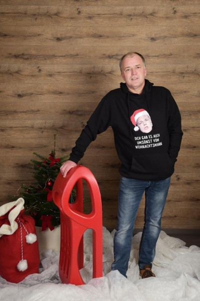 Ugly Christmas Hoodie Udo Dich gabs umsonst